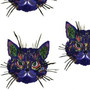 Kitty Face Painting Fabric in Repeat