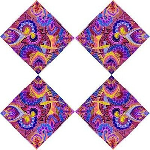 Floral Paisley Cheater Squares