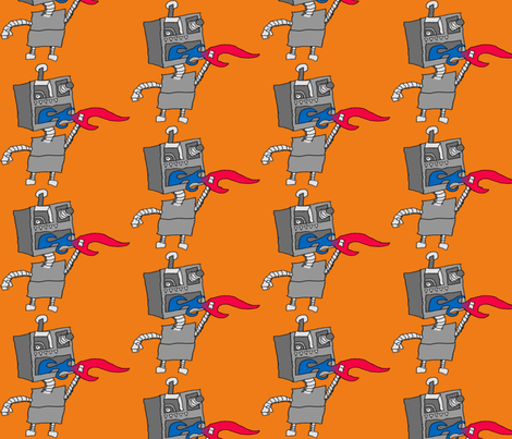 Robots Takeover - Large Print fabric by shannonkornis on Spoonflower - custom fabric
