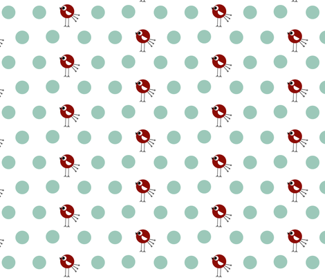 Birdie Dots fabric by natitys on Spoonflower - custom fabric