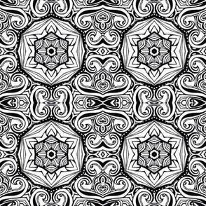 Monochrome Kaleidoscope - 6B