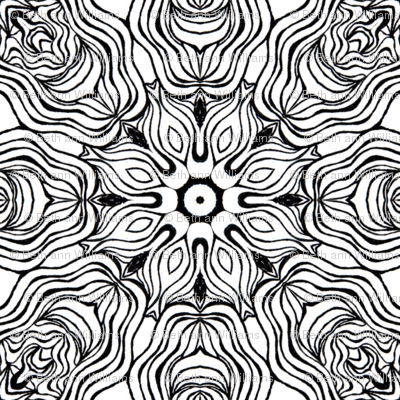 Monochrome Kaleidoscope 7 B (larger scale)