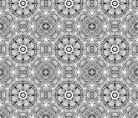 Monochrome Kaleidoscope 7 B (larger scale) fabric by beth_ann_williams on Spoonflower - custom fabric