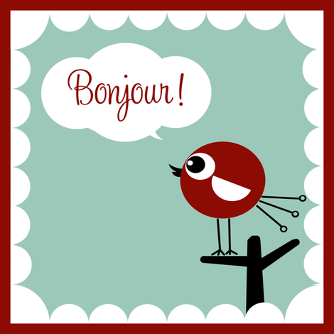 Bonjour Bird! fabric by natitys on Spoonflower - custom fabric