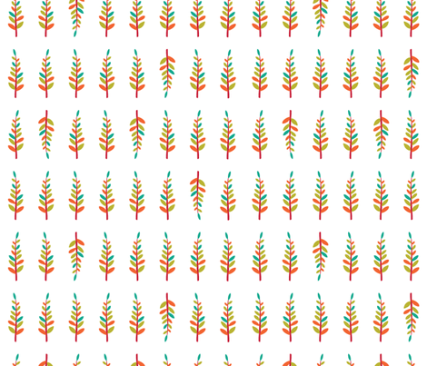 Happy Trees fabric by gracedesign on Spoonflower - custom fabric