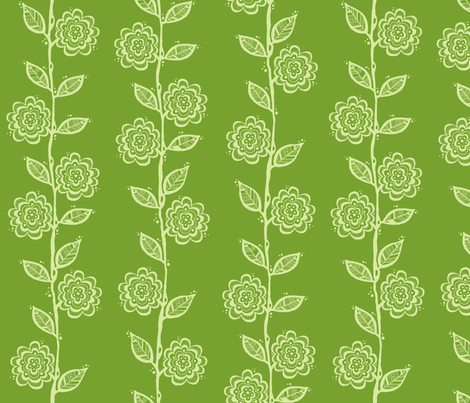 Light Sage on Green Vine fabric by toni_elaine on Spoonflower - custom fabric