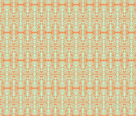 Stucco in the cool shade 3-ch fabric by susaninparis on Spoonflower - custom fabric