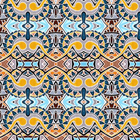 Gearhead (yellow/blue negative) fabric by edsel2084 on Spoonflower - custom fabric