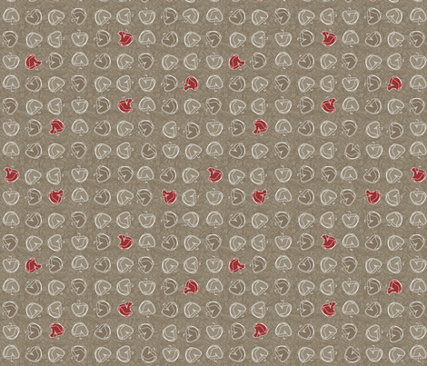 ©2011 fallapples fabric by glimmericks on Spoonflower - custom fabric