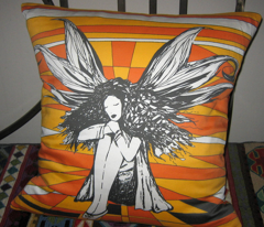 Autumn Fairy (pillow/cushion front)