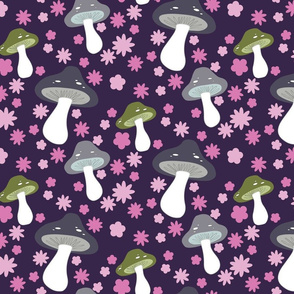 mushrooms (purple)