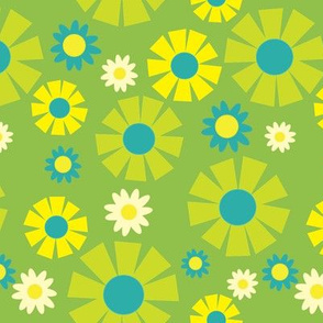 wallpaper flower  (green)