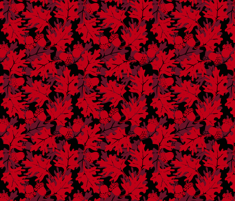 ©2011 Autumn Glory Red fabric by glimmericks on Spoonflower - custom fabric