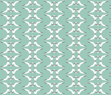 Talking Terns S fabric by animotaxis on Spoonflower - custom fabric