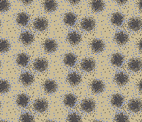 Fibonacci Fireworks (Inverted) fabric by candyjoyce on Spoonflower - custom fabric