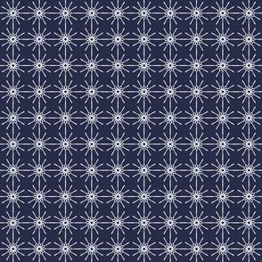 Tiny Line Art - Midnight Blue