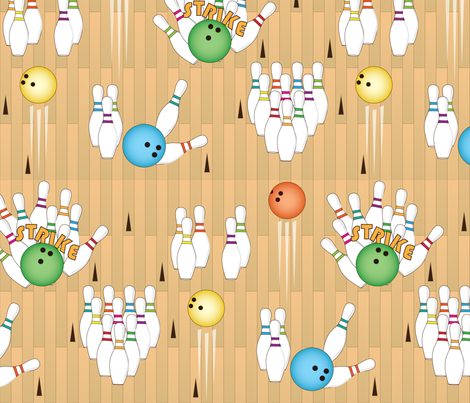 Bowling Bonanza fabric by wildnotions on Spoonflower - custom fabric