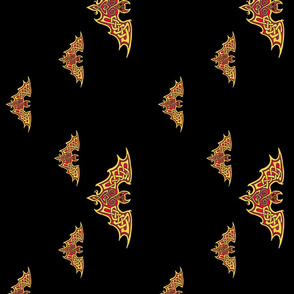 Celtic Bats on Black