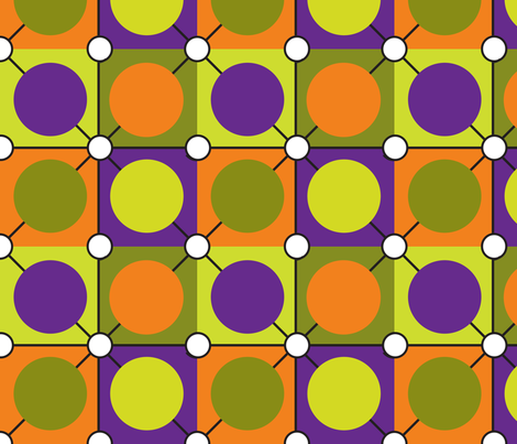 Halloween Dots Geometric fabric by mainsail_studio on Spoonflower - custom fabric