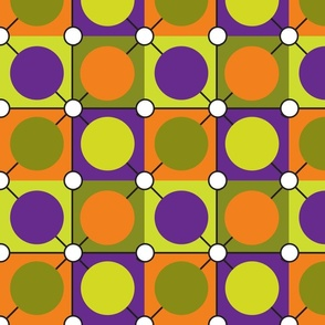 Halloween Dots Geometric