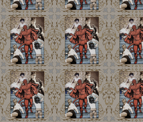Devil fabric by novelatelier on Spoonflower - custom fabric