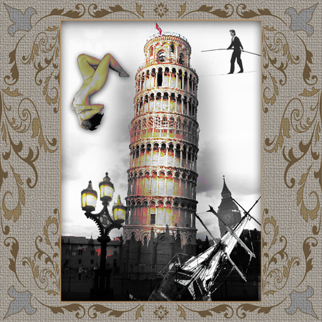 Tower fabric by novelatelier on Spoonflower - custom fabric