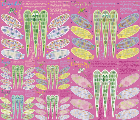 Dragonflies fabric by sol on Spoonflower - custom fabric
