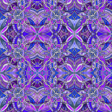 Diamond Vine (purple) fabric by edsel2084 on Spoonflower - custom fabric