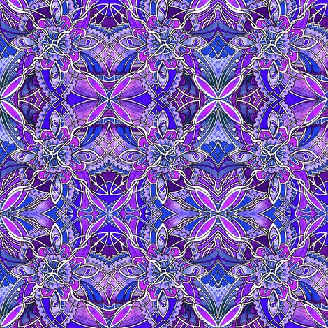 Diamond Vine (purple) fabric by edsel2084 on Spoonflower - custom fabric