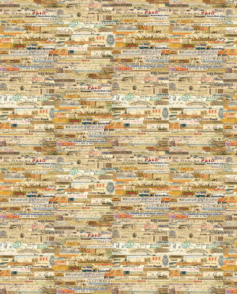 Scrappy Vintage Collage fabric by peagreengirl on Spoonflower - custom fabric