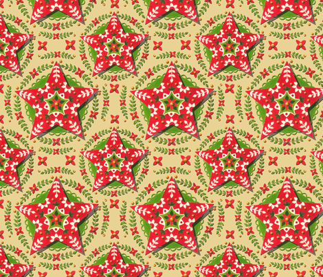 Folkloric Christmas Star by Patricia Shea fabric by patricia_shea on Spoonflower - custom fabric