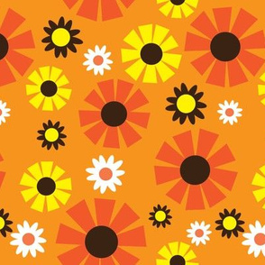 wallpaper flower (orange)