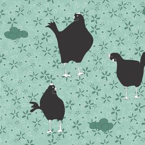 a chicken in doubt