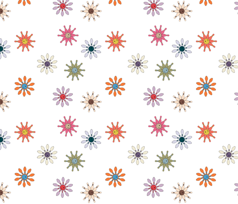 Bowling_Blooms fabric by walkathon on Spoonflower - custom fabric