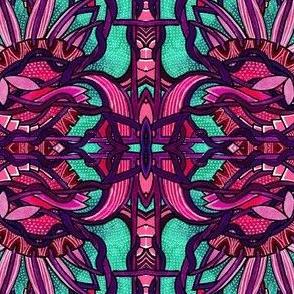 Screaming Purple Sunflower Tangler