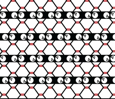 Bowling Geometric fabric by pantsmonkey on Spoonflower - custom fabric