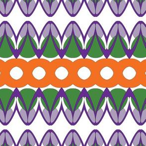 Cartoon Flower abstract stripe