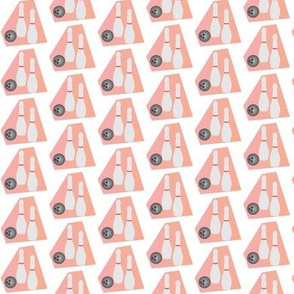 Bowling Pins and Ball on a Pink Background