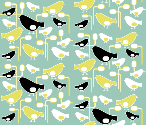 Birds of a Feather fabric by stephanie_ellis on Spoonflower - custom fabric