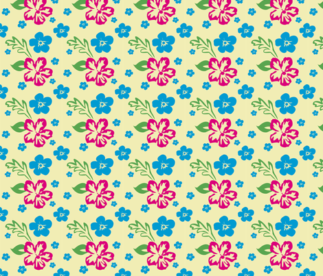 Aloha! Hawaiian Fabric fabric by brandymiller on Spoonflower - custom fabric