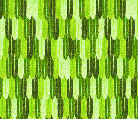 The feather forest - green - fabric by frumafar on Spoonflower - custom fabric