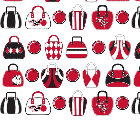 Bowling Bags fabric by cjldesigns on Spoonflower - custom fabric