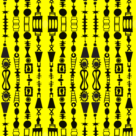 Cameo Stripes on Yellow fabric by boris_thumbkin on Spoonflower - custom fabric
