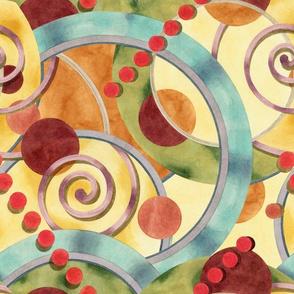 Europa Watercolour Design by Patricia Shea