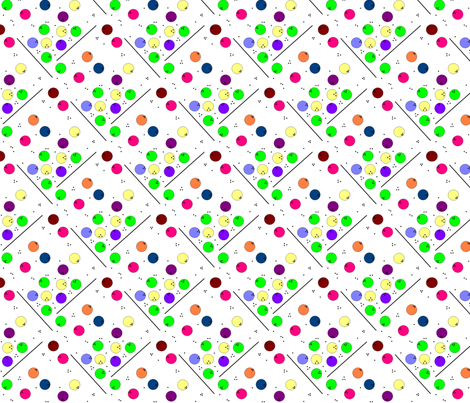 Alpha Bowling fabric by annalisa222 on Spoonflower - custom fabric