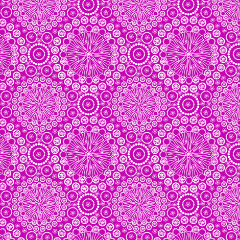 Lace Fuscia fabric by glimmericks on Spoonflower - custom fabric