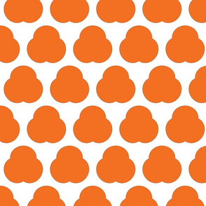 Orange Triple Lump Cartoon Flowers