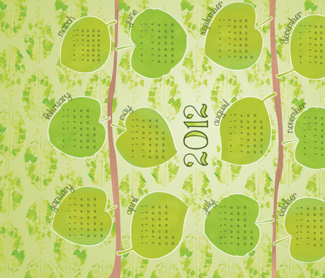 New Leaf 2012 Calendar fabric by wildnotions on Spoonflower - custom fabric