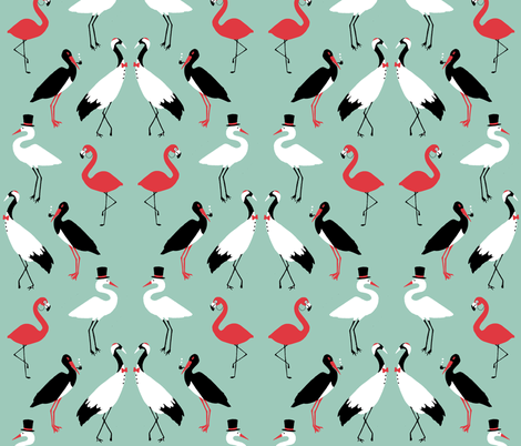 Gentlebirds fabric by shirayukin on Spoonflower - custom fabric