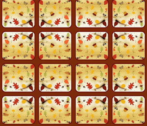Fall leaf fabric by cleigh_designs on Spoonflower - custom fabric